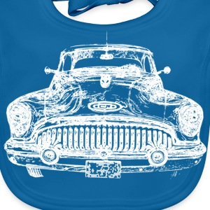 US Car white Kinder T-Shirts - Baby Bio-Lätzchen