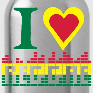 I LOVE REGGAE tablier de cuisine - Water Bottle