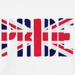Gay Pride Great Britain flag, Pink britisk Flag, P - Herre premium T-shirt