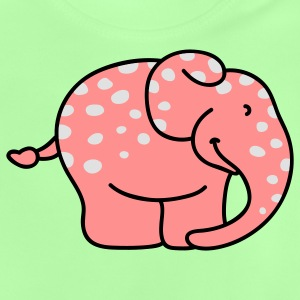 Pink elephant with polka dots Kids' Tops - Baby T-Shirt