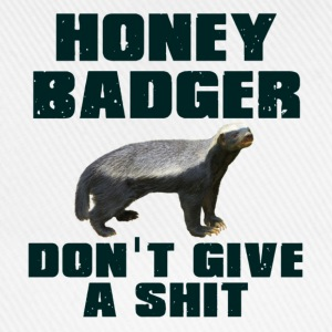 Honey Badger Don't Give A Shit Long sleeve shirts - Baseball Cap