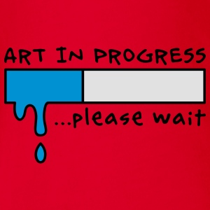 Art in Progress - Loading, please wait Barn-T-shirts - Ekologisk kortärmad babybody