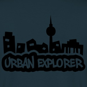 Urban Explorer - glow in the dark - back - Men's T-Shirt