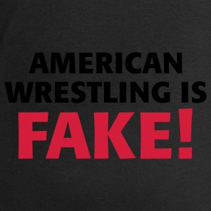 Black/white American Wrestling is fake ! Bags  - Men's Sweatshirt by Stanley & Stella