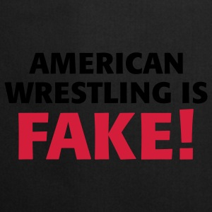 Black/white American Wrestling is fake ! Bags  - Cooking Apron