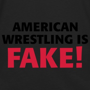 Noir/blanc American Wrestling is fake ! Sacs - T-shirt manches longues Premium Homme