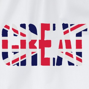 Great Britain flag, brittiska flaggan, Union Jack, - Gymnastikpåse