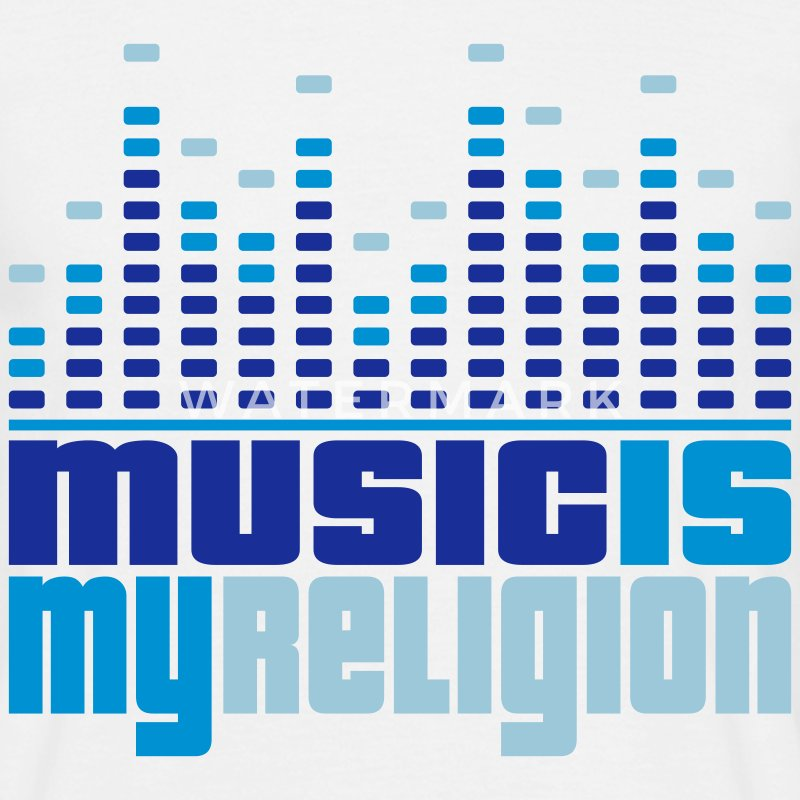 Music Is My Religion Men's T-shirts - T-shirt Homme