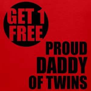 GET 1 FREE T-Shirt - Proud Daddy of Twins WT - Männer Premium Tank Top