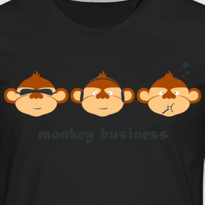Monkey Comic Business T-Shirts - Männer Premium Langarmshirt