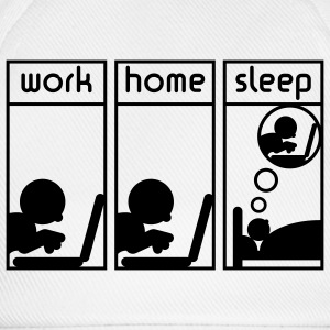 Computerfreak (work - home - sleep) Nerd T-Shirt - Baseballkappe