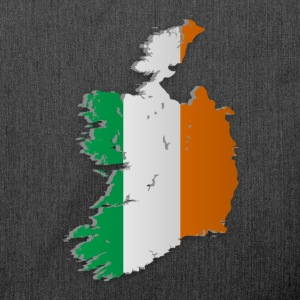Map of Ireland 2 - Schultertasche aus Recycling-Material