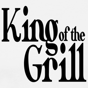 king of the grill  Aprons - Men's Premium T-Shirt
