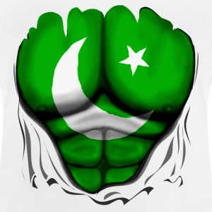 Pakistan Flag Ripped Muscles, six pack, chest t-sh - Baby T-Shirt