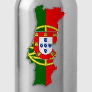 Map of Portugal 2 - Water Bottle