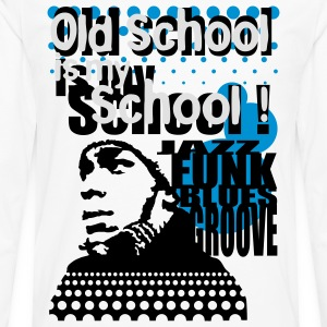 Old school is my school marron - T-shirt manches longues Premium Homme