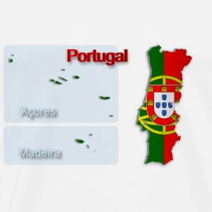 Map of Portugal 2.5 - Men's Premium T-Shirt