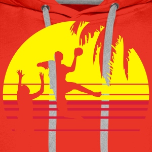 SUNSET BEACH HANDBALL T-Shirts - Männer Premium Hoodie