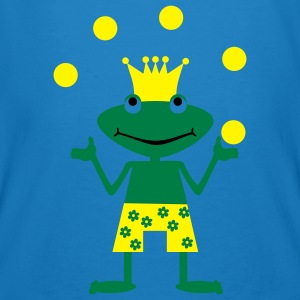 Frog, amphibian, toad, king, prince, kiss, fairytale, summer, water, swimming, swimming trunks, enchanted, transformed, hop, cool, sunglasses, glasses porno, ball juggling, artist Taschen - Männer Bio-T-Shirt