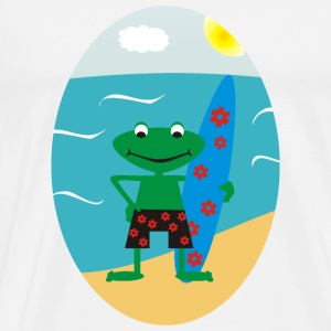 Frog Surfer Kopper - Premium T-skjorte for menn