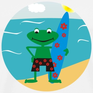 Frog Surfer Badges - T-shirt Premium Homme