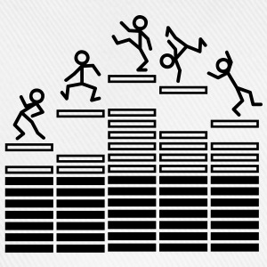 Dance on Equalizer Baby-bodyer - Baseballkasket