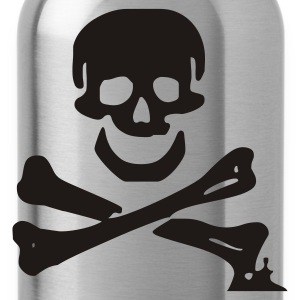 skull - pirate - pirates - bone - pirates of the caribbean - Water Bottle