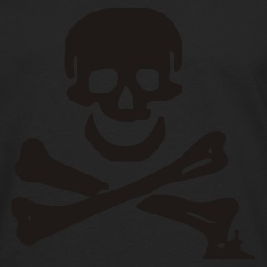 skull - pirate - pirates - bone - pirates of the caribbean - Men's Premium Longsleeve Shirt