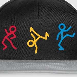 Dancing stick figure - Acid House T-Shirts - Snapback Cap