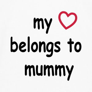 my_heart_belongs_to_mummy Baby Body - Männer Premium Langarmshirt