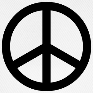 peace sign hippie T-shirt - Cappello con visiera