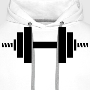 dumbell sport gym T-Shirts - Men's Premium Hoodie