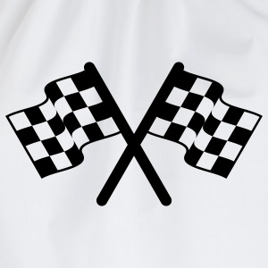 racing flags sport T-Shirts - Turnbeutel
