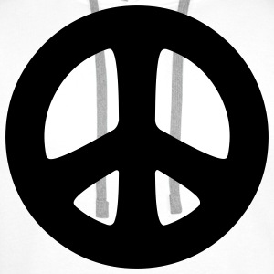 peace sign hippie T-shirts - Mannen Premium hoodie
