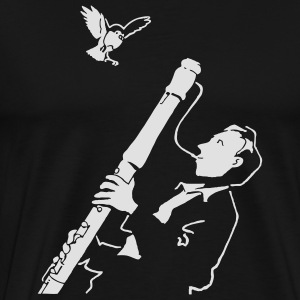 Black Sax Jazz Bags  - Men's Premium T-Shirt