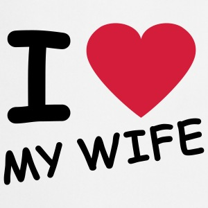 i_love_my_wife_2c Sweatshirts - Forklæde