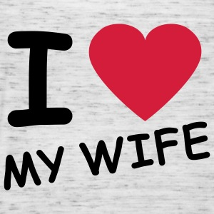 i_love_my_wife_2c Sweatshirts - Dame tanktop fra Bella