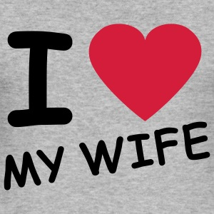 i_love_my_wife_2c Sweaters - slim fit T-shirt
