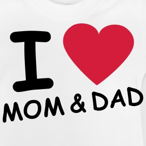 i_love_mom_and_dad_2c Barnegensere - Baby-T-skjorte