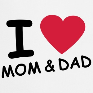 i_love_mom_and_dad_2c Børne T-shirts - Forklæde