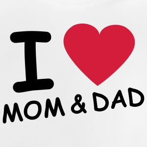 i_love_mom_and_dad_2c Børne T-shirts - Baby T-shirt