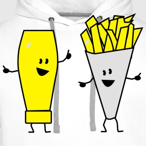 mayonnaise french fries T-shirts - Sweat-shirt à capuche Premium pour hommes