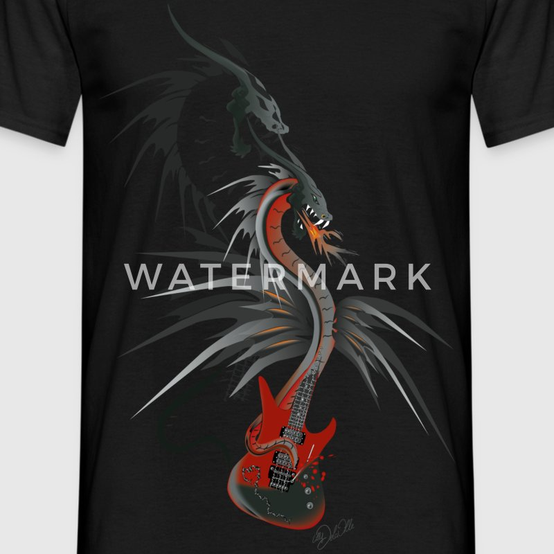 Guitardragon 2  T-shirts - T-shirt Homme