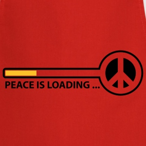 peace_is_loading_text_version_2c Camisetas - Delantal de cocina