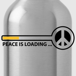 peace_is_loading_text_version_2c Camisetas - Cantimplora