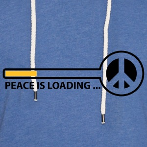 peace_is_loading_text_version_2c Camisetas niños - Sudadera ligera unisex con capucha