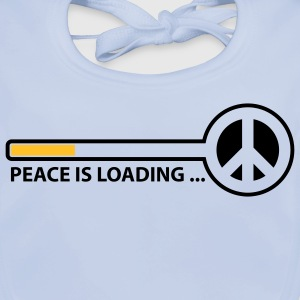 peace_is_loading_text_version_2c Kids' Shirts - Baby Organic Bib