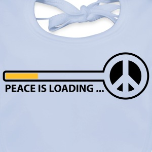 peace_is_loading_text_version_2c Barn-T-shirts - Ekologisk babyhaklapp