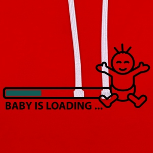 baby_is_loading_text_version_2c Camisetas - Sudadera con capucha en contraste