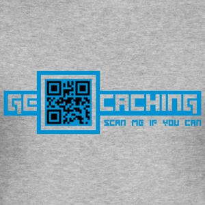QR Code - 2colors - Männer Slim Fit T-Shirt
